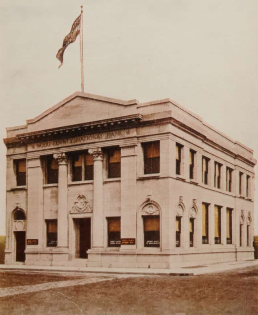 Vintage Photo of Wood County National Bank