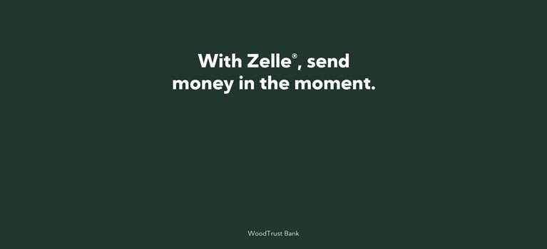 Zelle Home Page - mobile Graphic